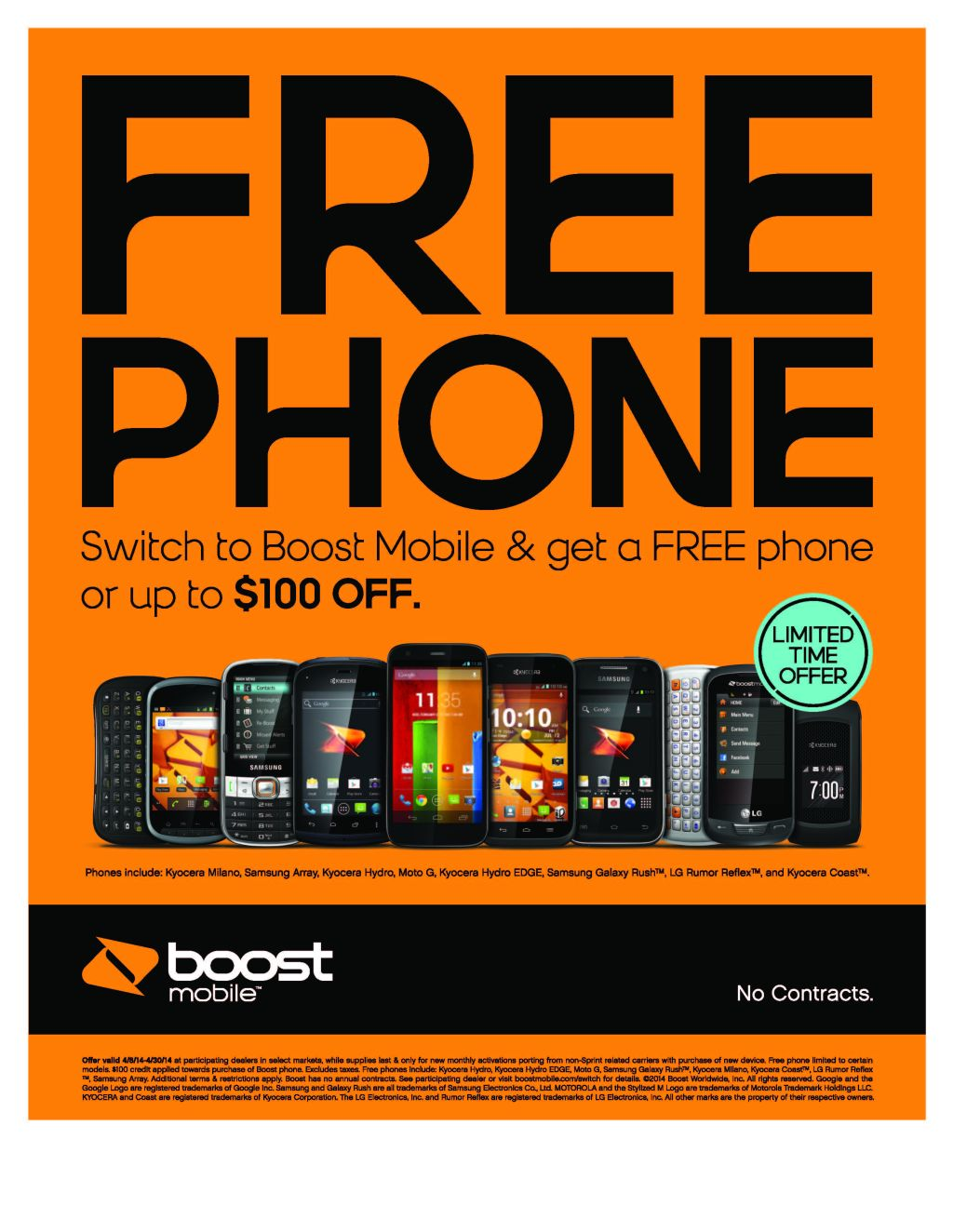 Switch to Boost Mobile & get a FREE phone or up to $100 OFF! | Z 107 9