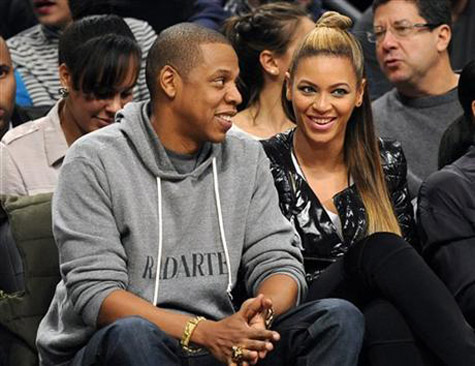 beyonce jay z nets game