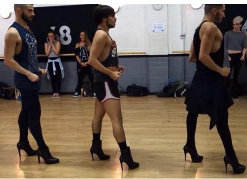 men in heels beyonce