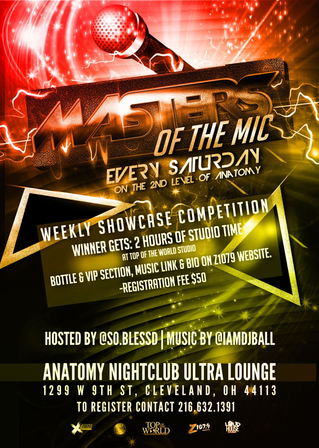 Anatomy Ultra Lounge presents Z1079\'s Masters Of The Mic Showcase ...