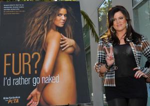 Khloe Kardashian Unveils Her PETA 'Fur? I'd Rather Go Naked' Billboard
