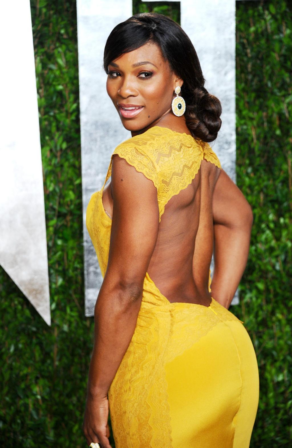 Serena Williams at 2012 Vanity Fair Oscar Party