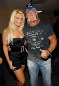 * EXCLUSIVE *  Brooke Hogan and Hulk Hogan *EXCLUSIVE* Z100's Jingle Ball 2006 - Backstage Madison Square Garden New York City, New York United States December 15, 2006 Photo by KMazur/WireImage.com To license this image (11893382), contact WireImage.com