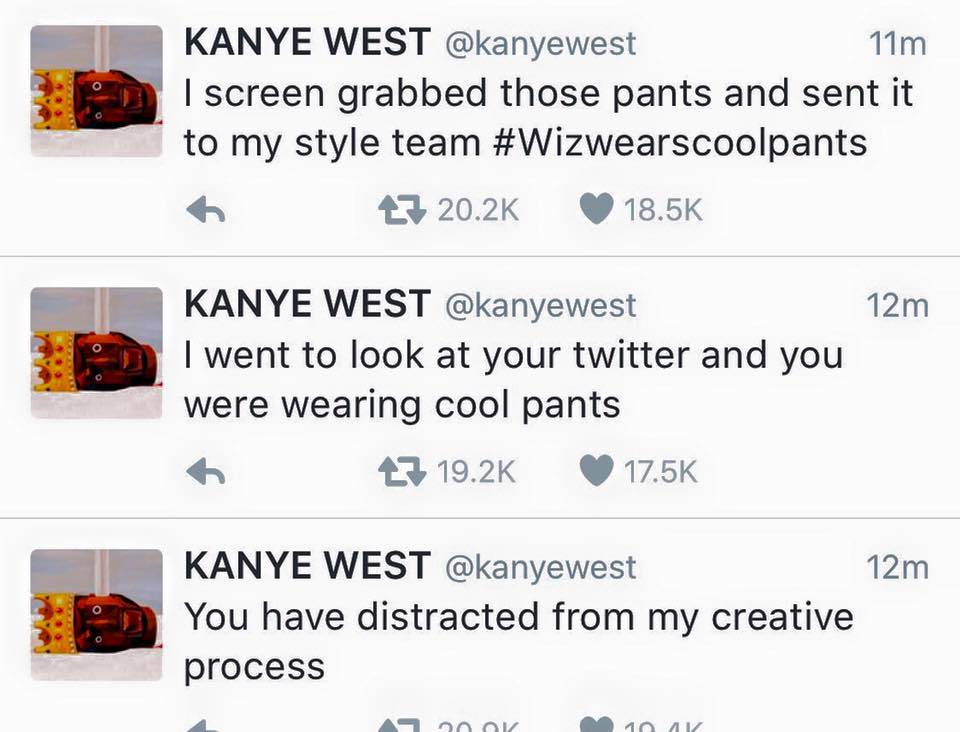 kanye tweets 2016