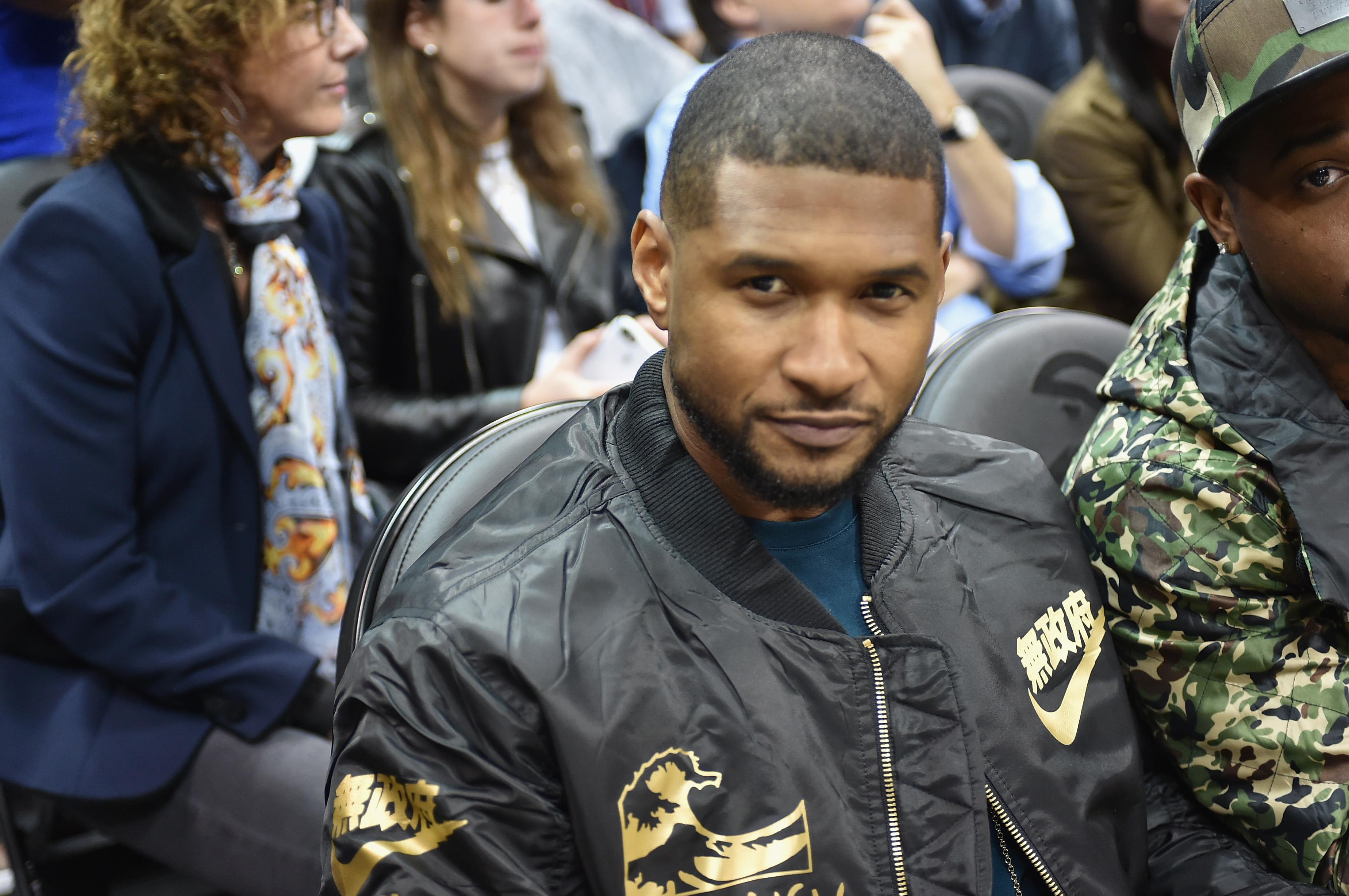 Celebrities Attend Golden State Warriors v Atlanta Hawks Game