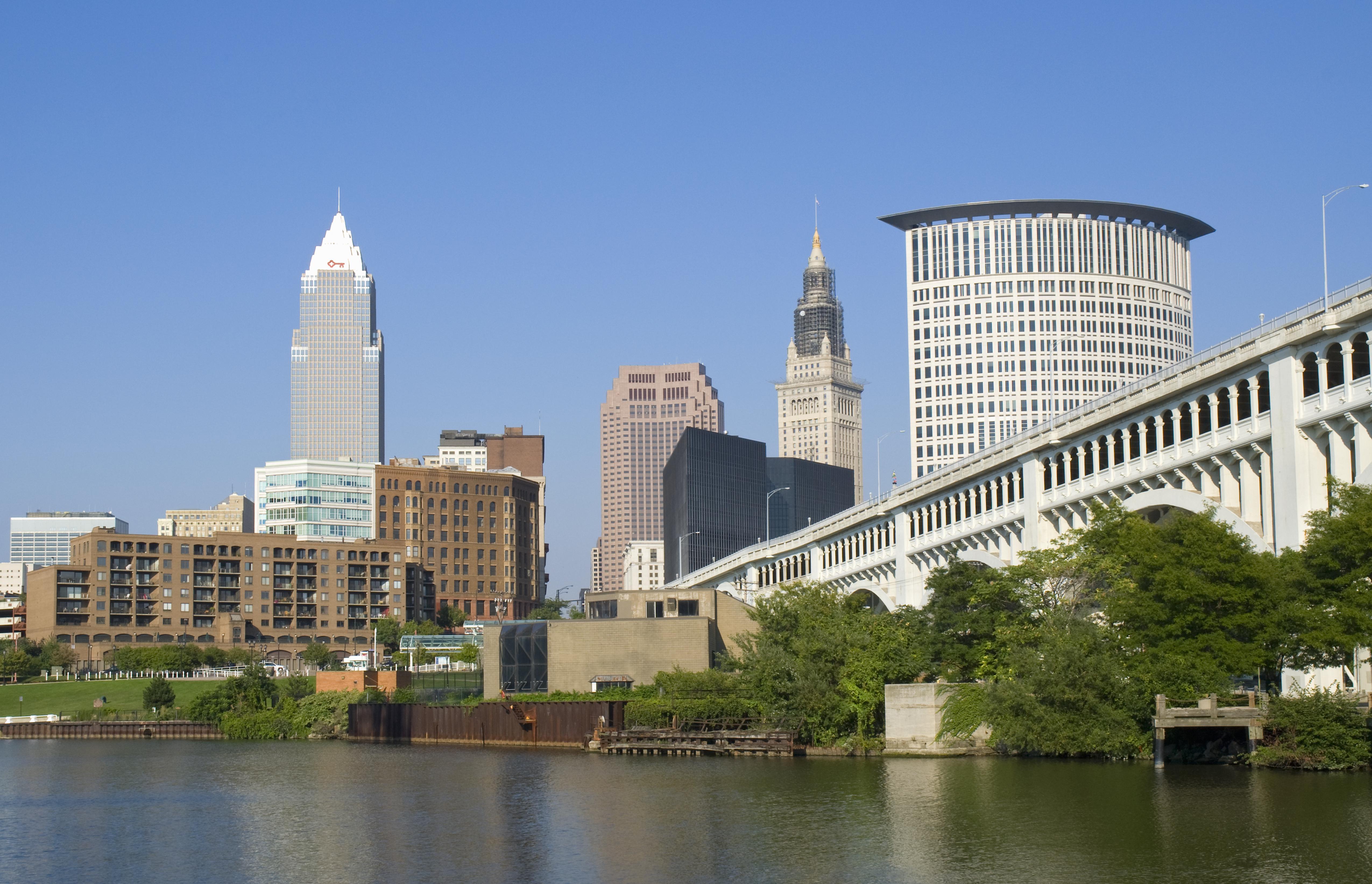USA, Ohio, Cleveland, downtown skyline