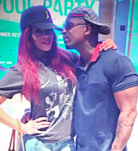 Faith Evans and Stevie J