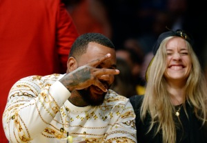 Rapper The Game Attends Portland Trail Blazers v Los Angeles Lakers Pre-season Basketball Game