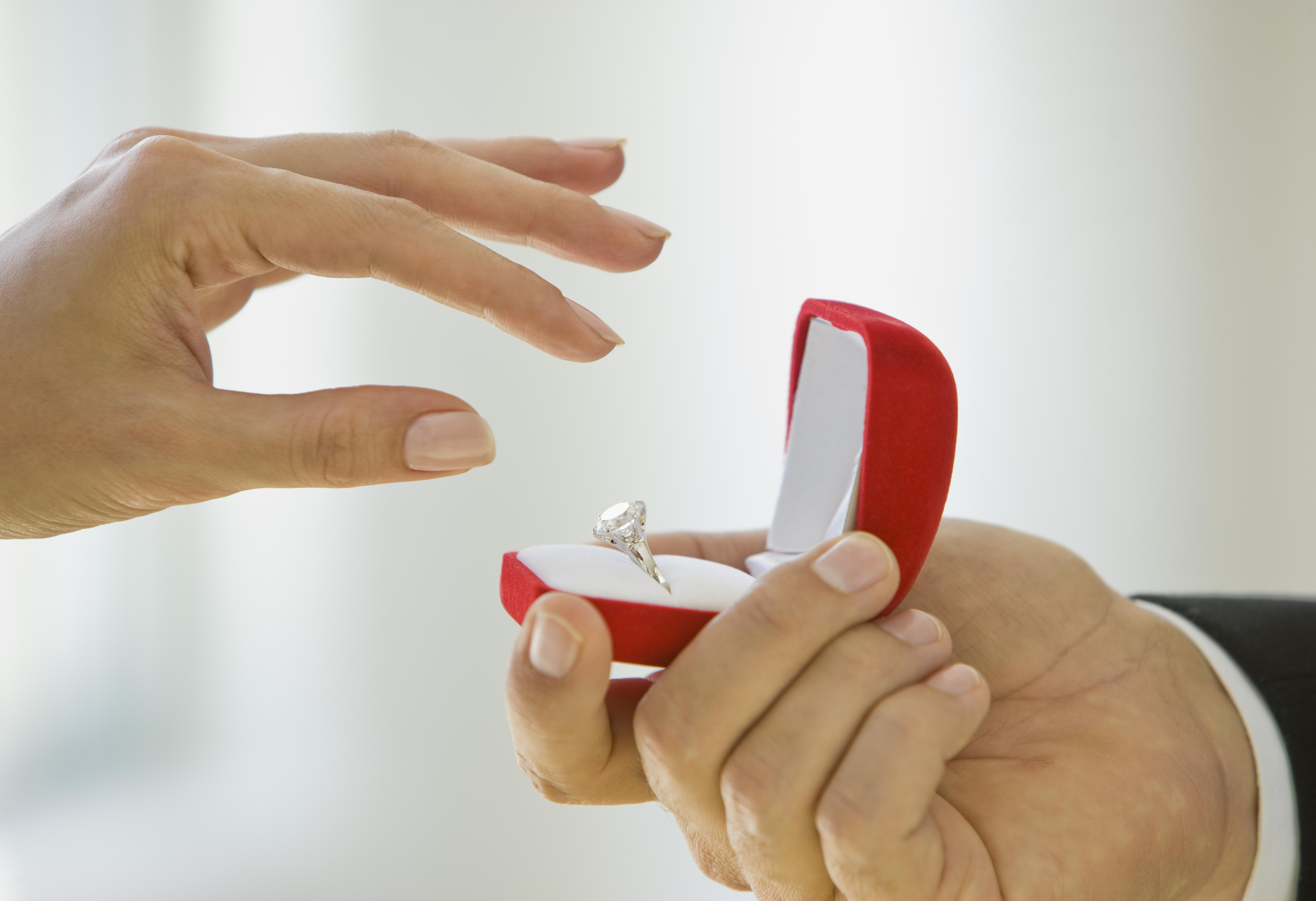 Reaching for Engagement Ring