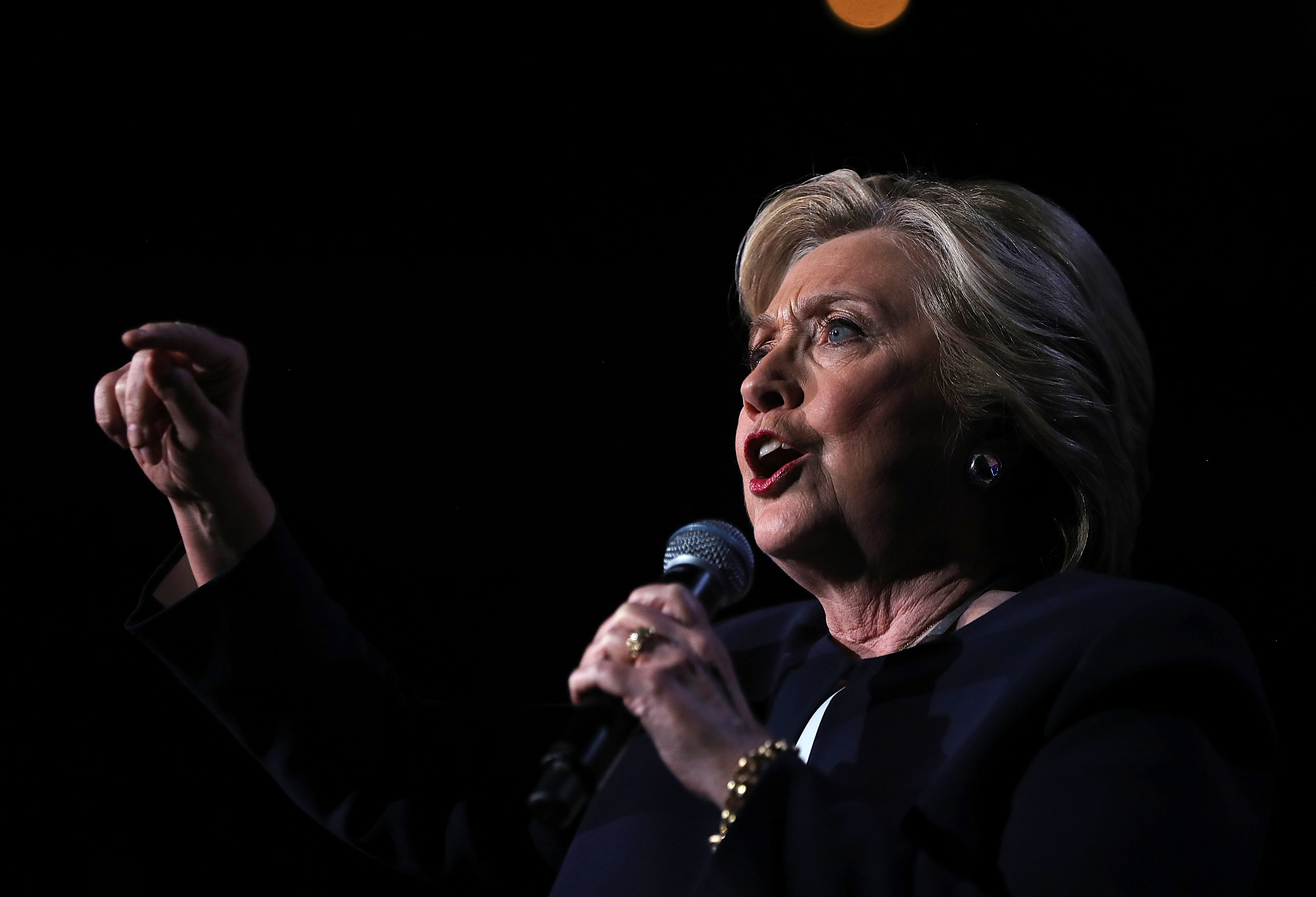 Hillary Clinton Campaigns In Key Swing States