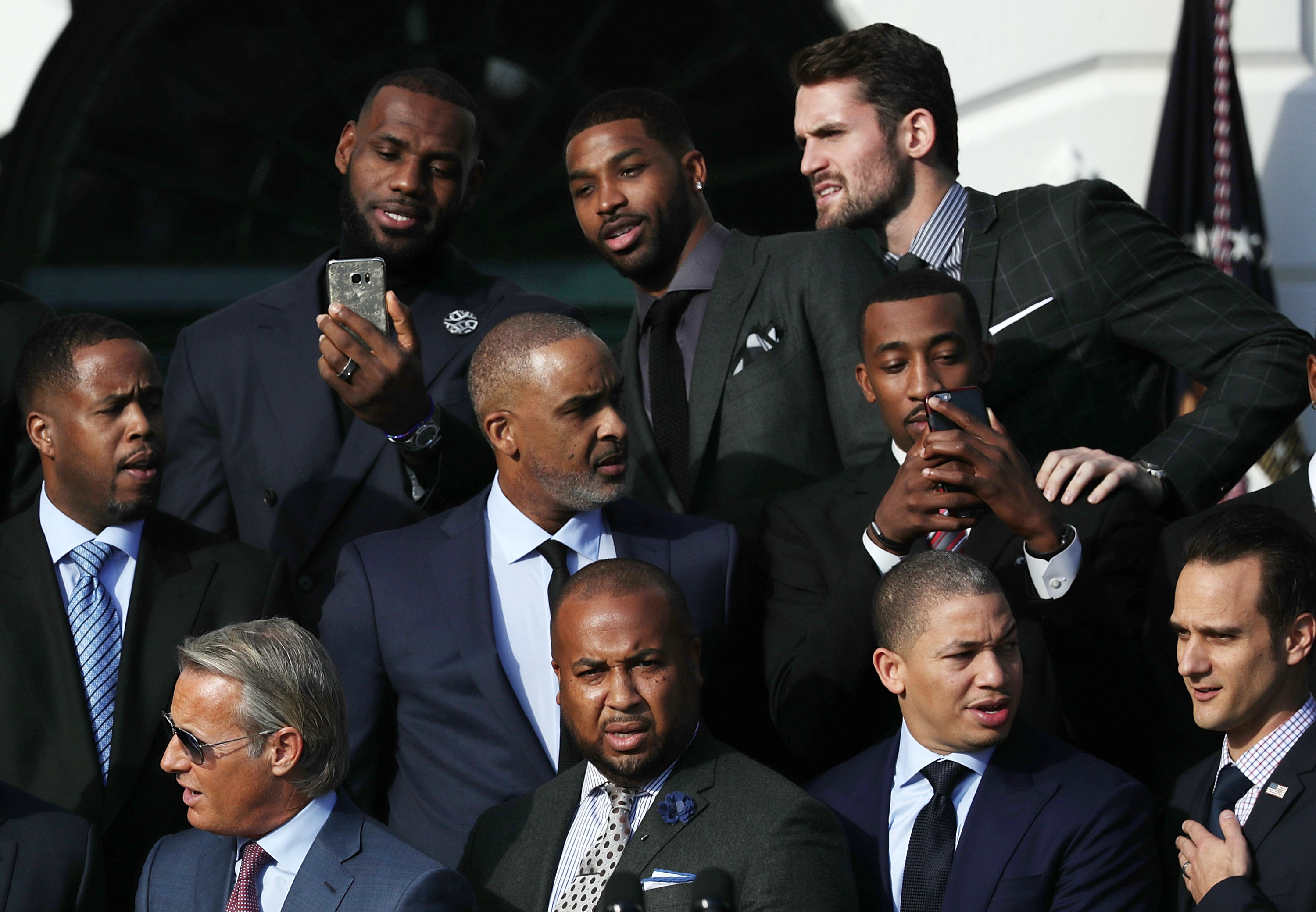 President Obama Hosts NBA Champion Cleveland Cavaliers At The White House