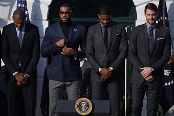 Cleveland Cavaliers Take Over The White House with POTUS & FLOTUS [Photos & Video]