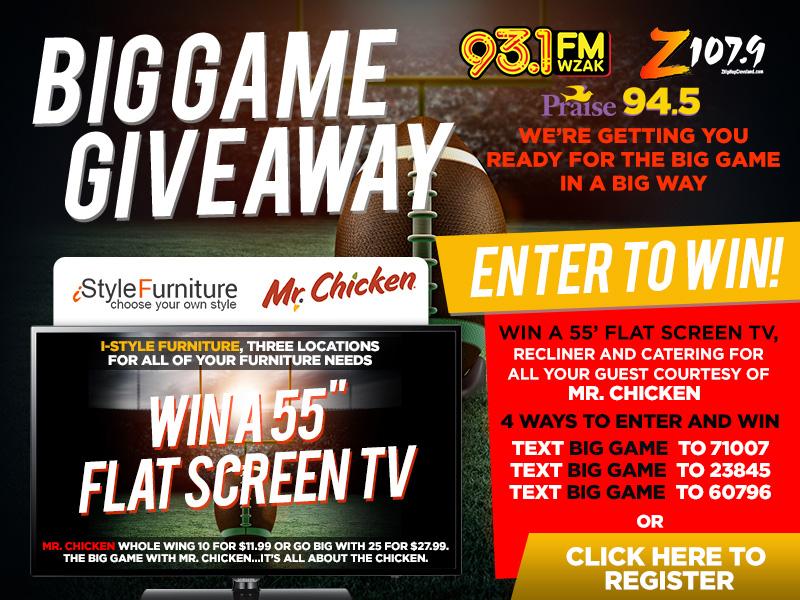 the big game contest z1079 wzak wjmo