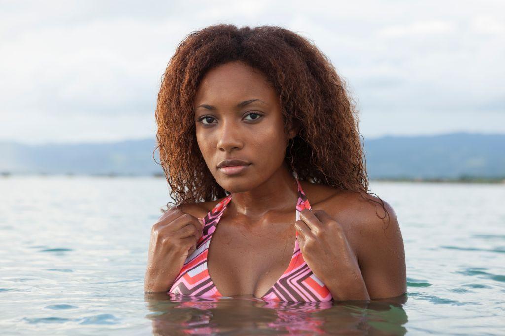 Caribbean Woman in the Sea, Trinidad, Cuba