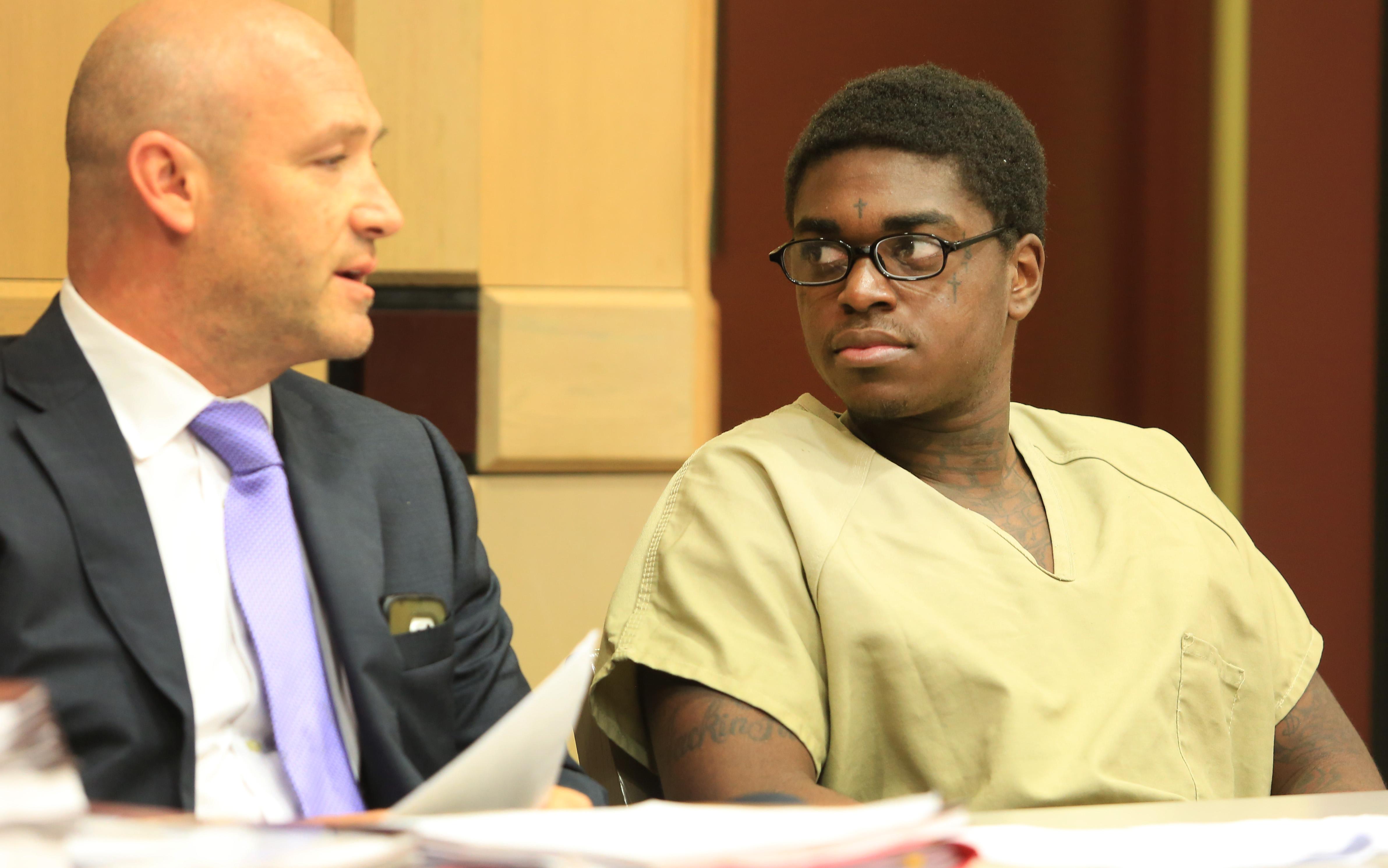 Rapper Kodak Black at sentencing