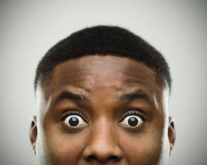 7a14102194fb Close-up portrait of african man shocked. Source  SensorSpot   Getty. Via
