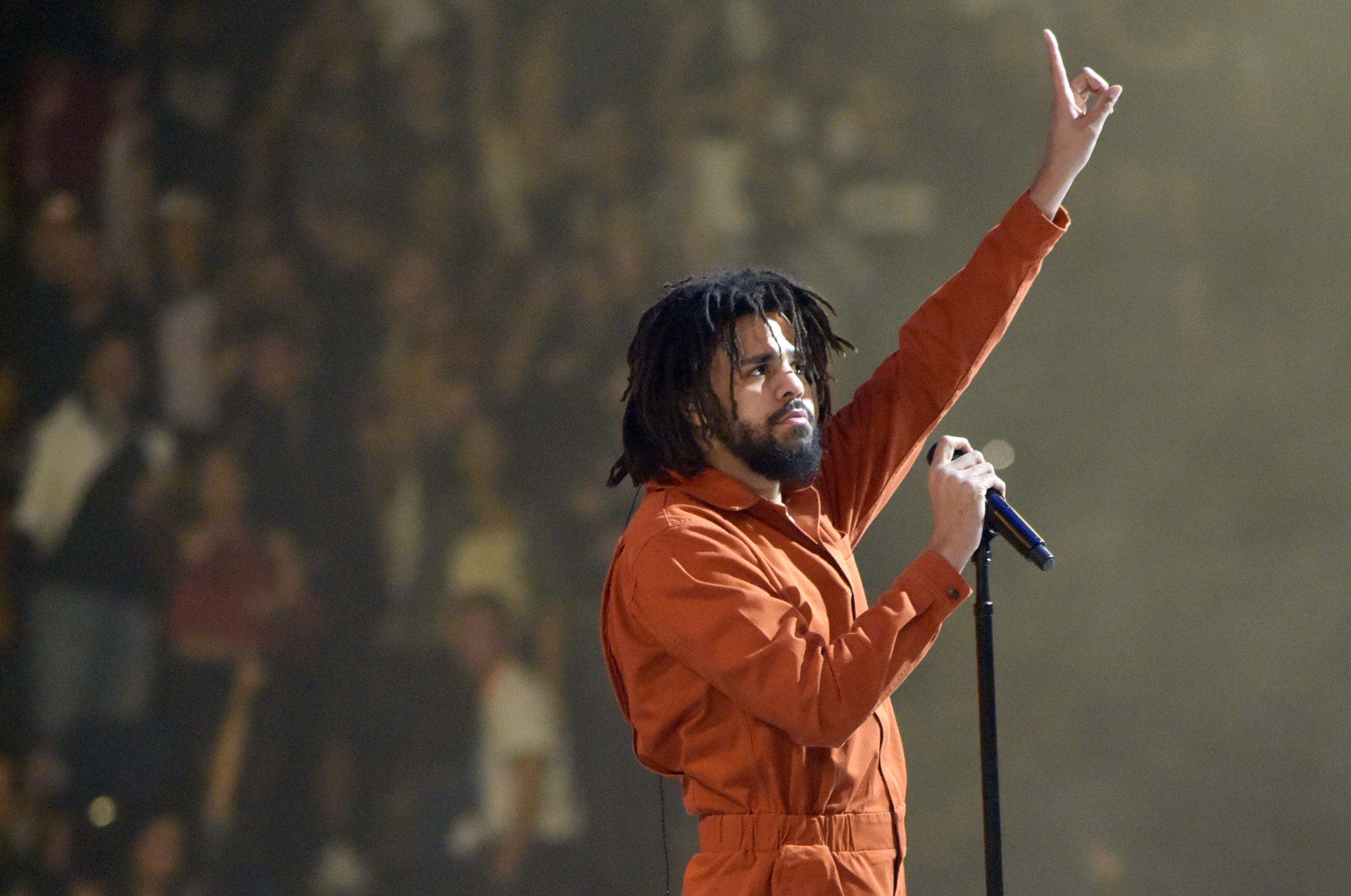 J. Cole Performs At Oracle Arena