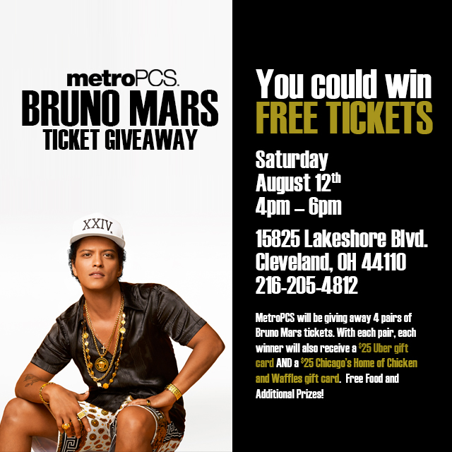 Bruno Mars MetroPCS Ticket Giveaway