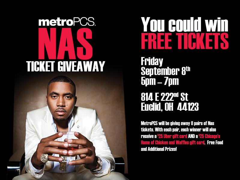MetroPCS Nas Ticket Giveaway