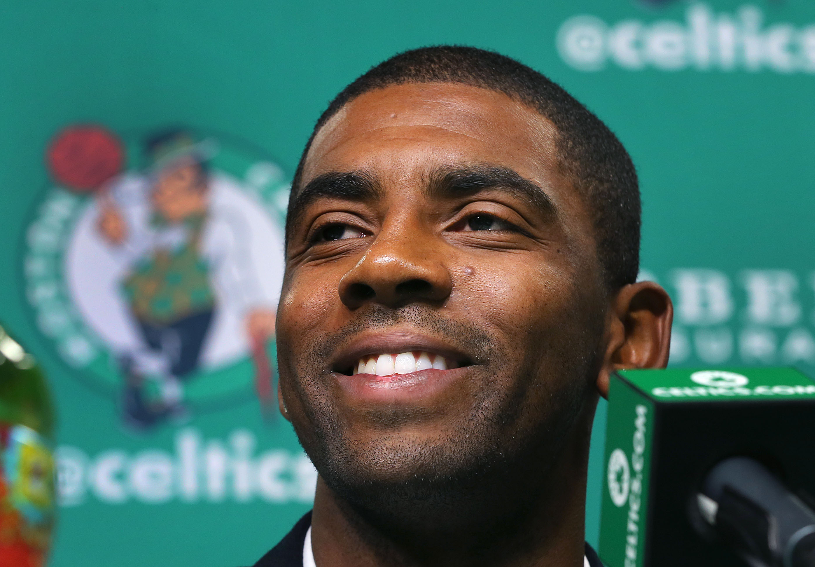 Boston Celtics Introduce New Players Kyrie Irving And Gordon Hayward