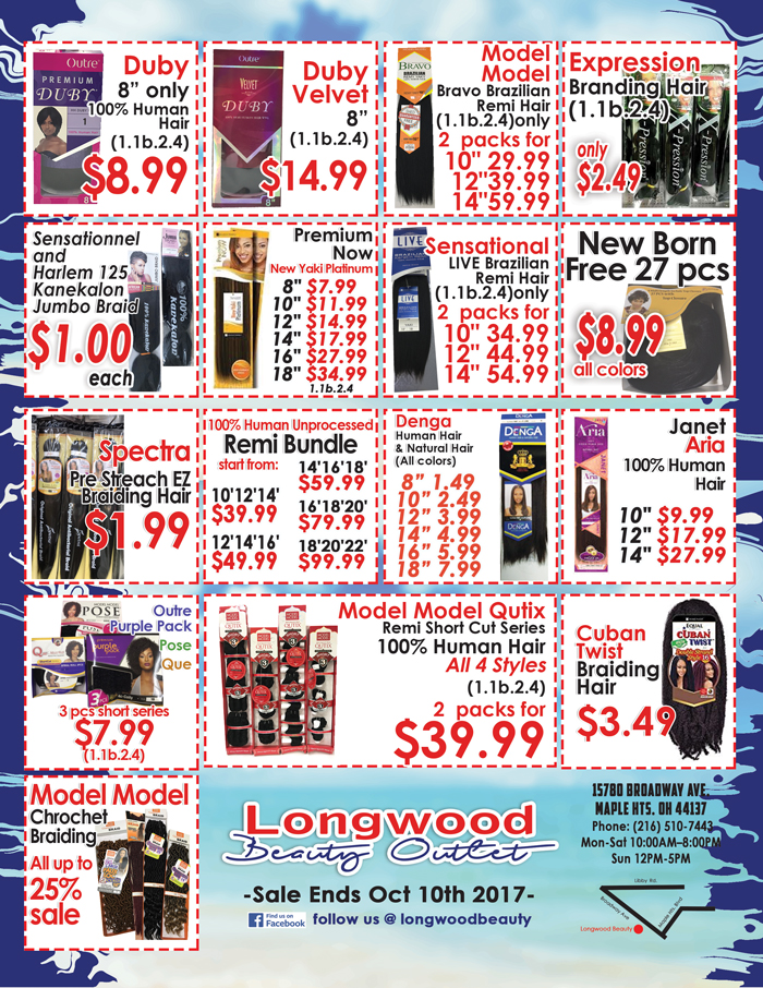 Longwood Beauty September Specials