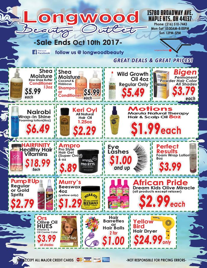 Longwood Beauty September Specials