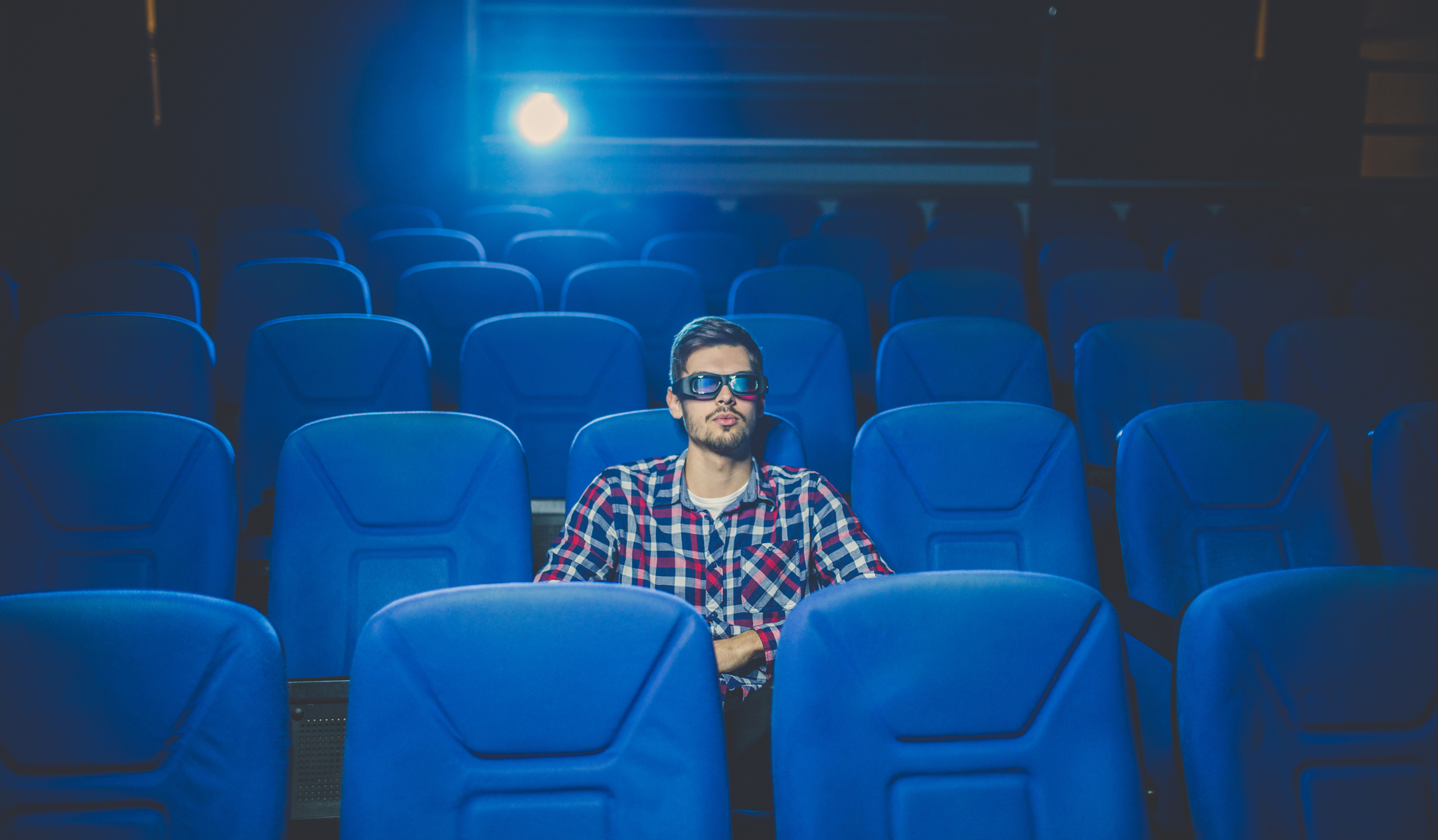 Guy at the cinema