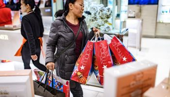Holiday Shoppers Look For Bargains On Black Friday