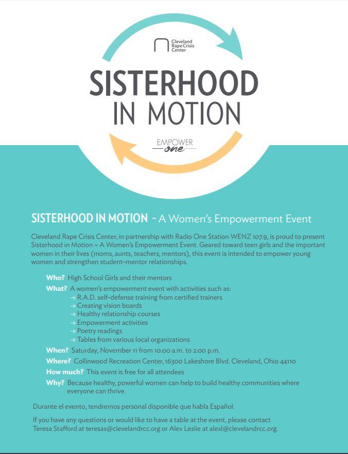Sisterhood in Motion Flyer