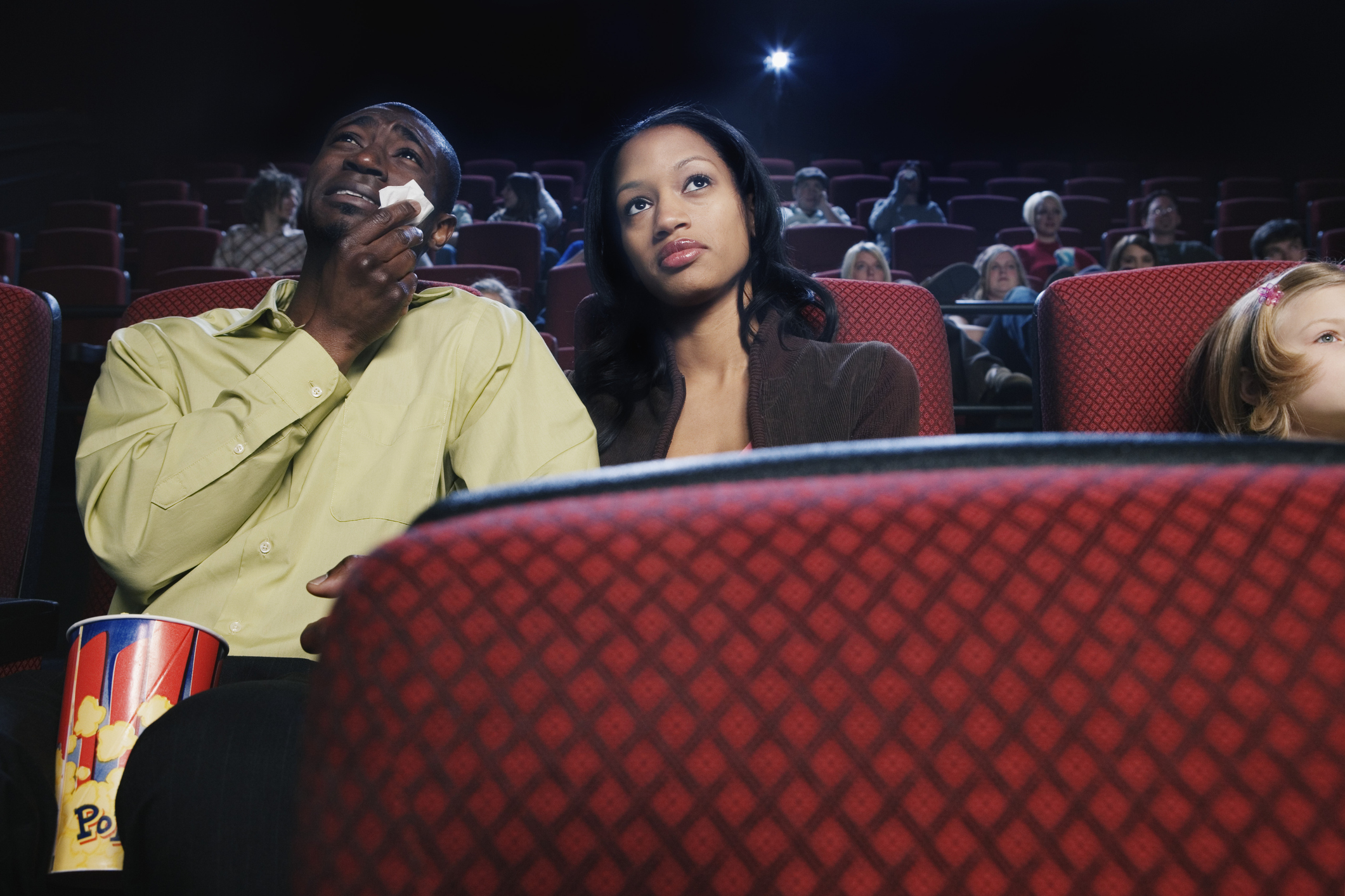 Couple Watching a Sad Movie