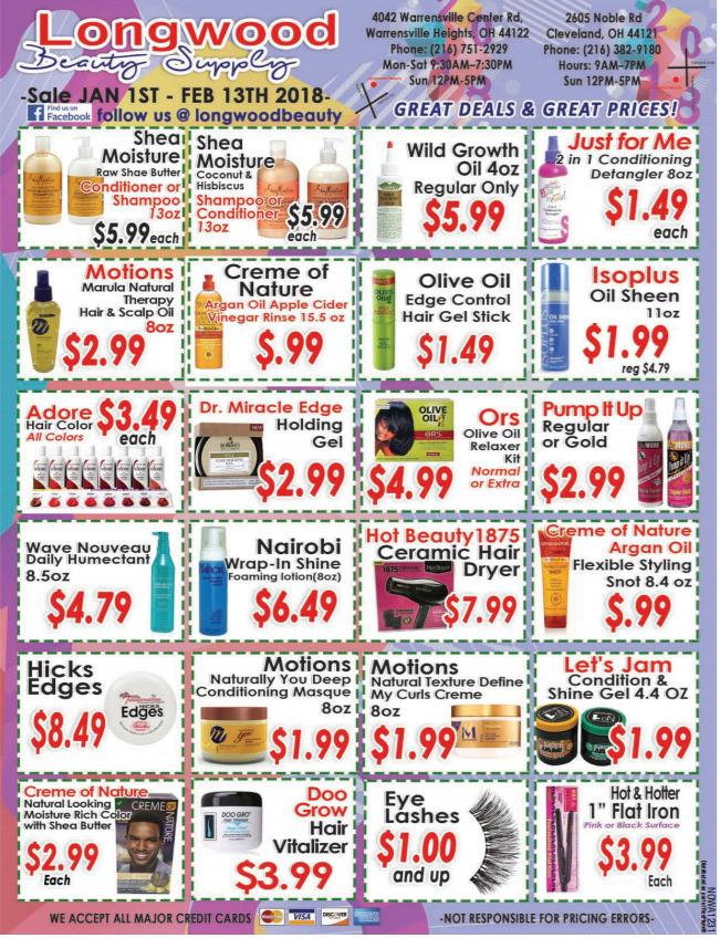 Longwood Beauty Sales Sheet