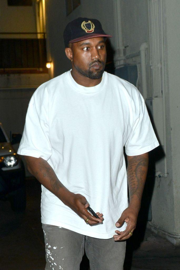 Kanye West leaves Matsuhisa Sushi restaurant in Beverly Hills