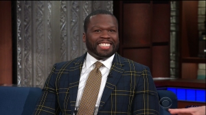 "Curtis ""50 Cent"" Jackson during an appearance on CBS' 'The Late Show with Stephen Colbert.'"
