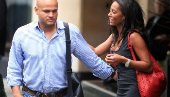 US ONLY MEL B AND STEPHEN BELAFONTE IN LONDON