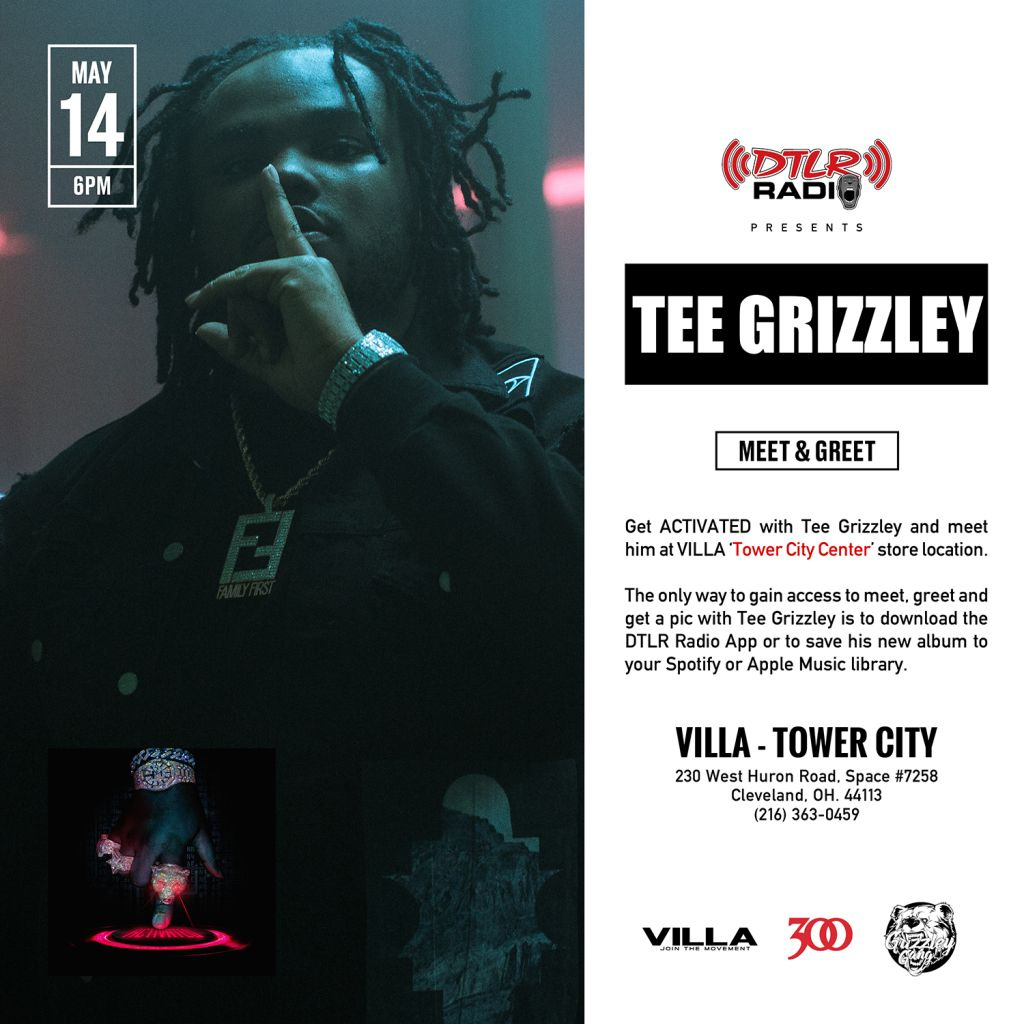 Tee grizzley meet and greet at villa tower city z 1079 tee grizzley villa cleveland m4hsunfo