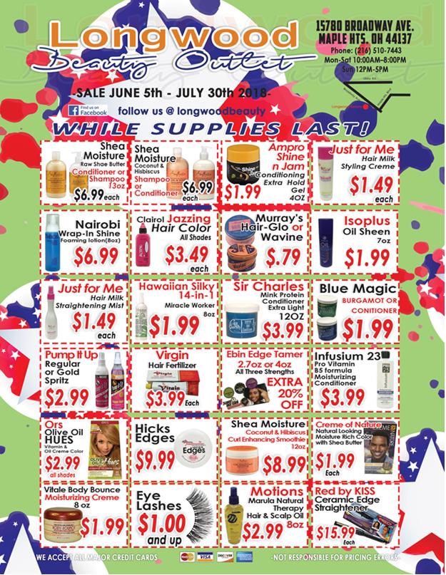 Longwood Jun-Jul sales
