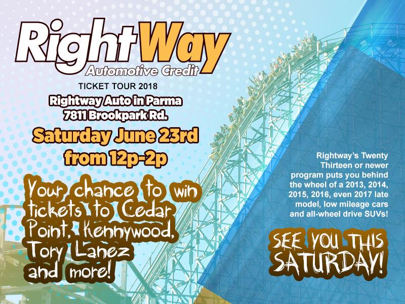 Rightway Auto Cedar Point Ticket Tour