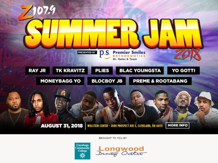 z1079 Summer Jam 2018 flyer