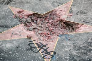 Donald Trump's Hollywood Walk Of Fame Star Gets Vandalized