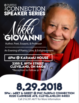 PNC FAIRFAX SPEAKER SERIES: NIKKI GIOVANNI