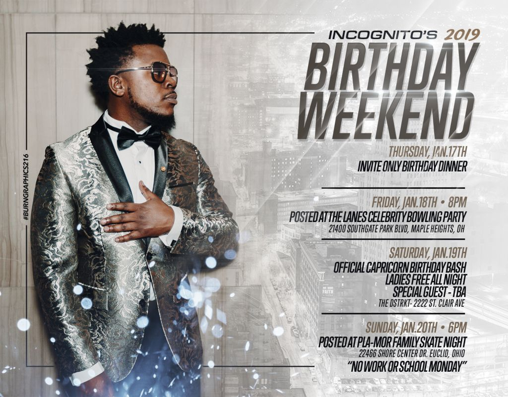 incognito birthday inc posted on the corner