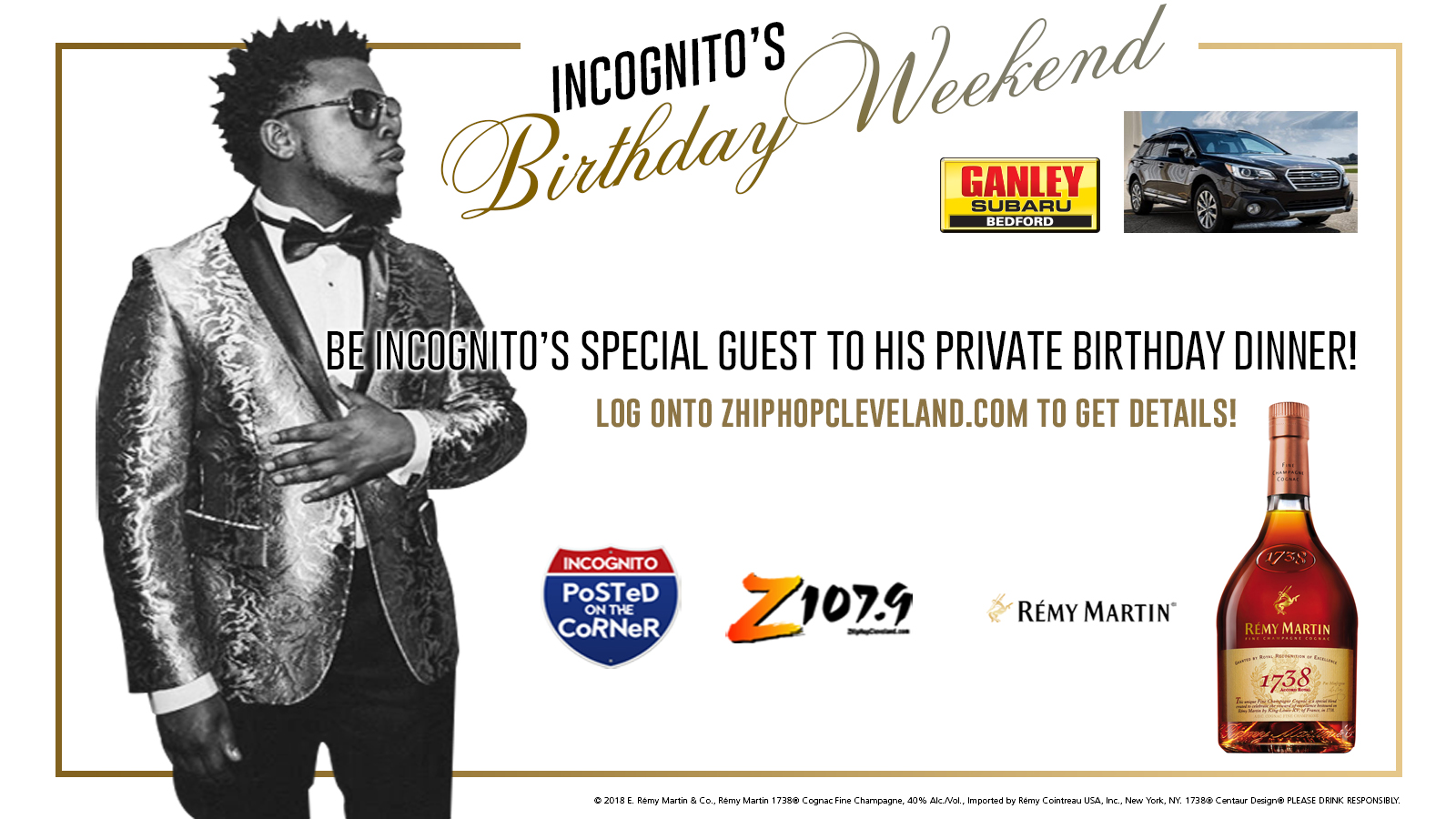 Incognitos Birthday Party Weekend Graphics