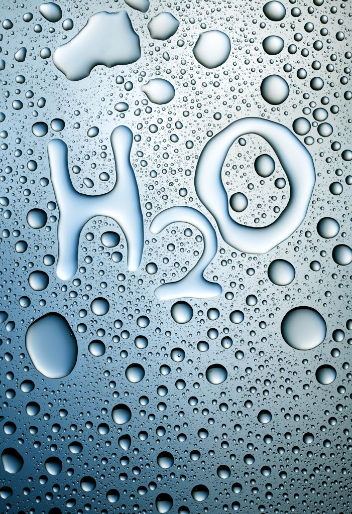 H20 written in condensation