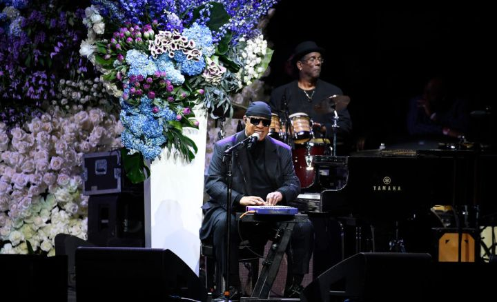 Stevie Wonder sings at Nipsey Hussle's Celebration Of Life - Inside