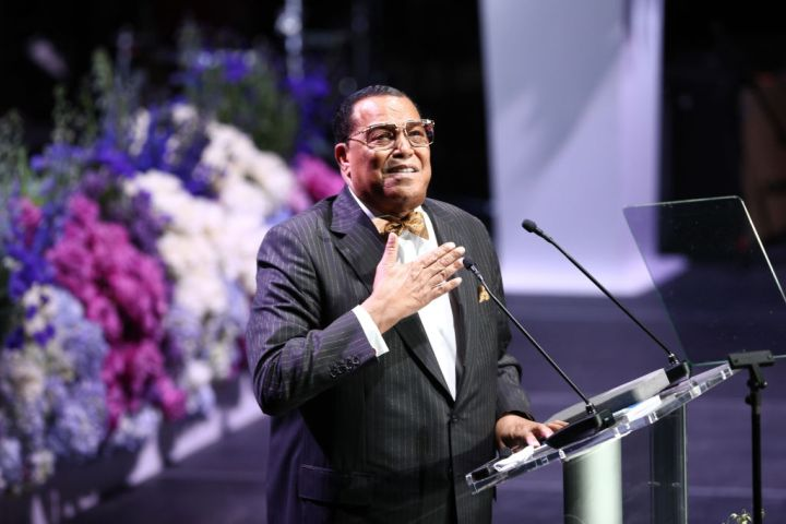 Honorable Minister Louis Farrakhan at Nipsey Hussle's Celebration Of Life