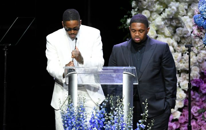 YG and DJ Mustard speak at Nipsey Hussle's Celebration Of Life