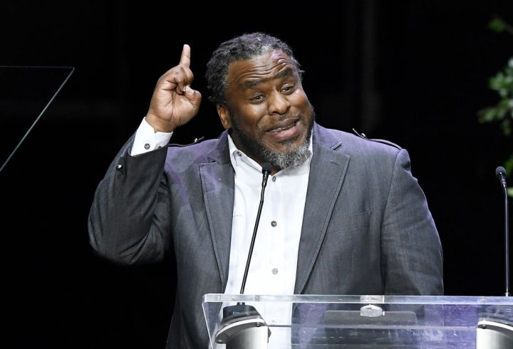 Pastor Shep Crawford speaks at Nipsey Hussle's Celebration Of Life