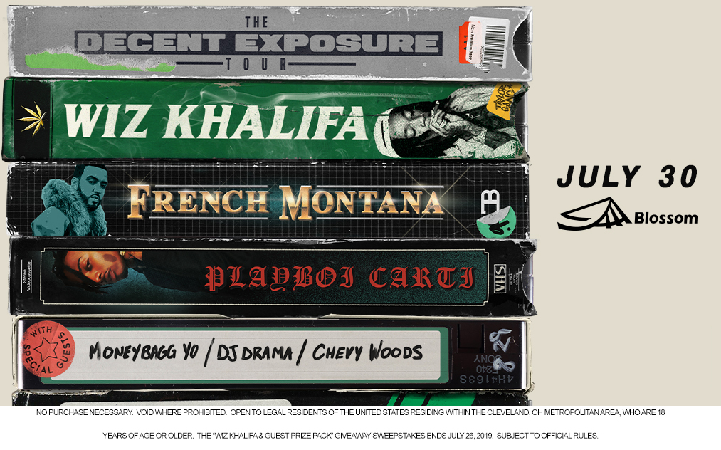 Text To Win Tickets To See Wiz Khalifa,French Montana, Playboi Carti