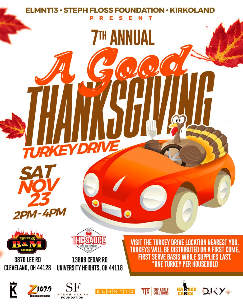 DJ Steph Floss 7TH ANNUAL GOOD THANKSGIVING TURKEY GIVEAWAY