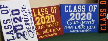 Signs Being Sold To Recognize 2020 High School Seniors During Coronavirus Outbreak